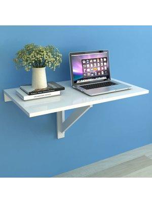 Wandtafel inklapbaar 100x60 cm wit