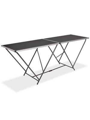 Behangtafel inklapbaar 200x60x78 cm MDF en aluminium