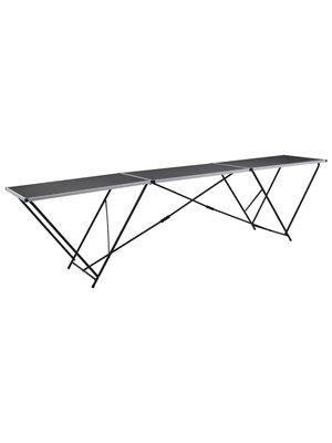Behangtafel inklapbaar 300x60x78 cm MDF en aluminium