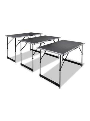 Behangtafel inklapbaar en in hoogte verstelbaar 3 st