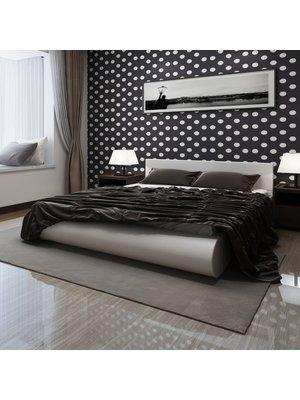 Bed met matras kunstleer wit 180x200 cm