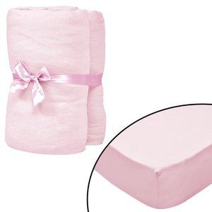 Hoeslakens voor wiegjes 4 st 40x80 cm katoenen jersey stof roze