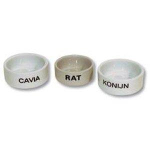 Merkloos Cavia eetbak steen wit
