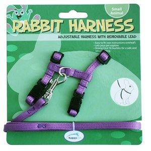 Happy pet Happy pet konijnen harnas en looplijn paars
