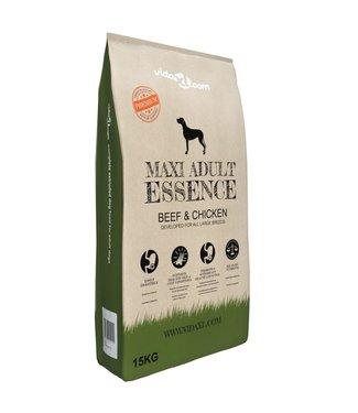 vidaXL Premium hondenvoer droog Maxi Adult Essence Beef & Chicken 15 kg