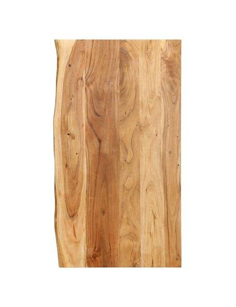 vidaXL Wastafelblad 100x55x2,5 cm massief acaciahout