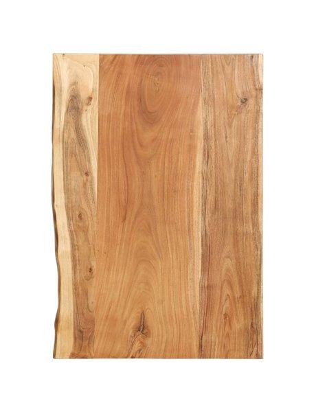 vidaXL Wastafelblad 80x55x3,8 cm massief acaciahout