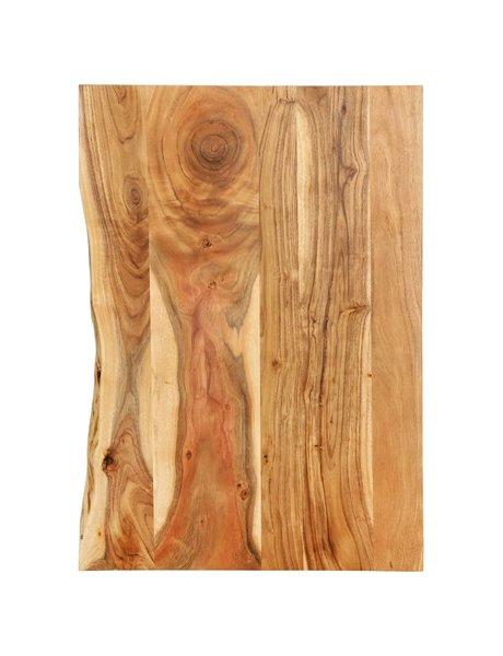 vidaXL Wastafelblad 80x55x2,5 cm massief acaciahout