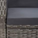 11-delige Tuinset poly rattan acaciahout grijs
