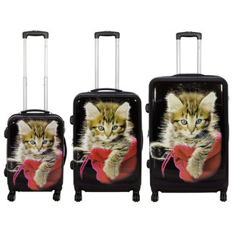 travelsuitcase 3 delig kofferset Cat II