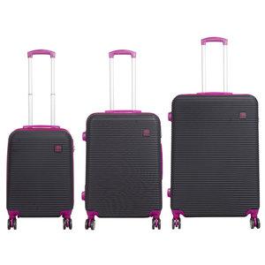 travelsuitcase ABS bagage set 3 delig Santorini Roze/Zwart