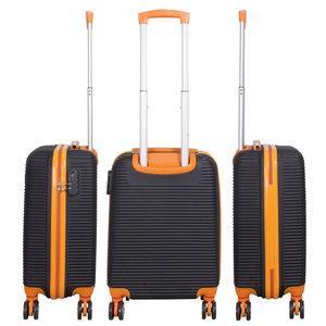 travelsuitcase ABS bagage set 3 delig Santorini Oranje/Zwart