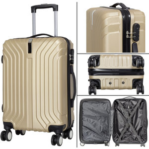 travelsuitcase 3 delig kofferset Palma Deluxe - Champagne