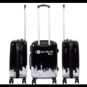 travelsuitcase 3 delig kofferset Fly The World Black