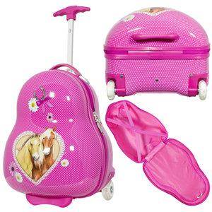 travelsuitcase Kinder kofferset 2 delig paarden