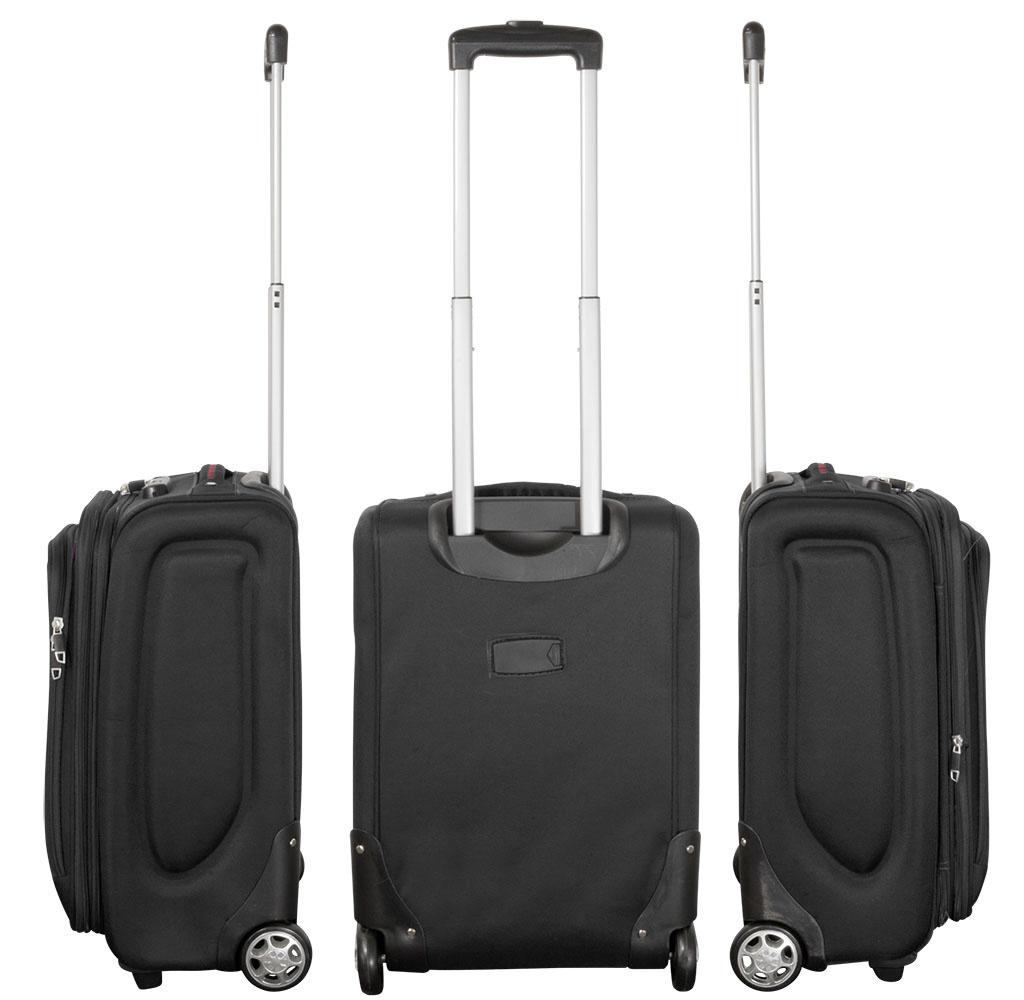 travelsuitcase 3 Delig nylon kofferset Zwart