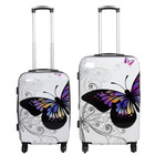travelsuitcase 2 delig Kofferset Butterfly 67cm 55cm
