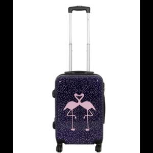 travelsuitcase 3 delig kofferset Flamingo