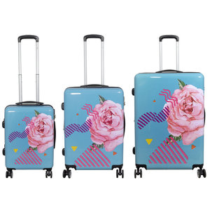 travelsuitcase 3 delig kofferset Rose