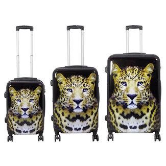 travelsuitcase 3 delig kofferset Leopard