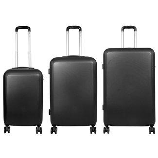 travelsuitcase 3 Delig kofferset Trump ABS antraciet