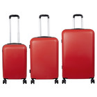 travelsuitcase 3 Delig kofferset Trump ABS Rood