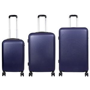 travelsuitcase 3 Delig kofferset Trump ABS Blauw