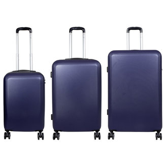 travelsuitcase 3 Delig kofferset Trump ABS Blauw