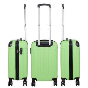 travelsuitcase 3 delig kofferset Diva Deluxe -  Groen