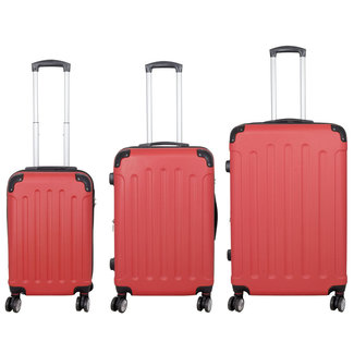 travelsuitcase 3 delig kofferset Diva Deluxe - Rood