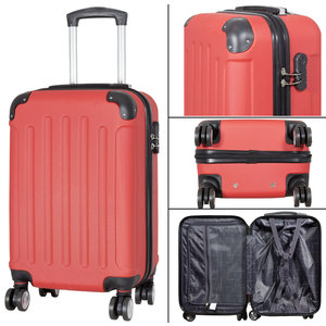 travelsuitcase 3 delig kofferset Diva Deluxe - Rood
