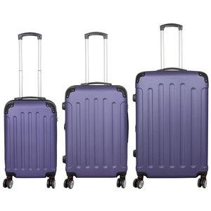 travelsuitcase 3 delig kofferset Diva Deluxe -  Blauw