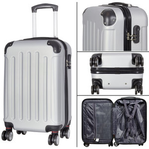 travelsuitcase 3 delig kofferset Diva Deluxe -  Zilver