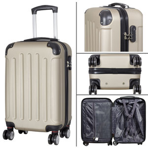 travelsuitcase 3 delig kofferset Diva Deluxe - champagne