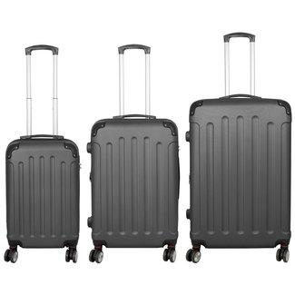 travelsuitcase 3 delig kofferset Diva Deluxe -  Antraciet