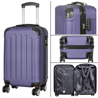 travelsuitcase koffers Diva Deluxe. Blauw