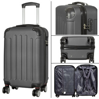 travelsuitcase koffers Diva Deluxe. Antraciet