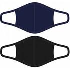 Beeren mondkapjes dames katoen blauw/zwart maat S 2 stuks