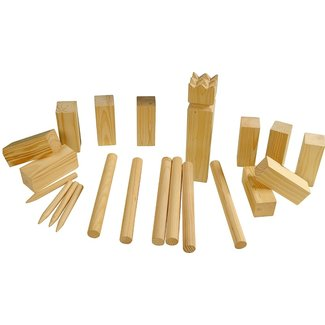 Outdoor Games Kubb spelset - groot -hout
