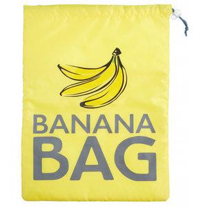 KitchenCraft bewaartas banaan 38 x 28 cm polyester geel