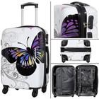 travelsuitcase reiskoffer Butterfly 55cm