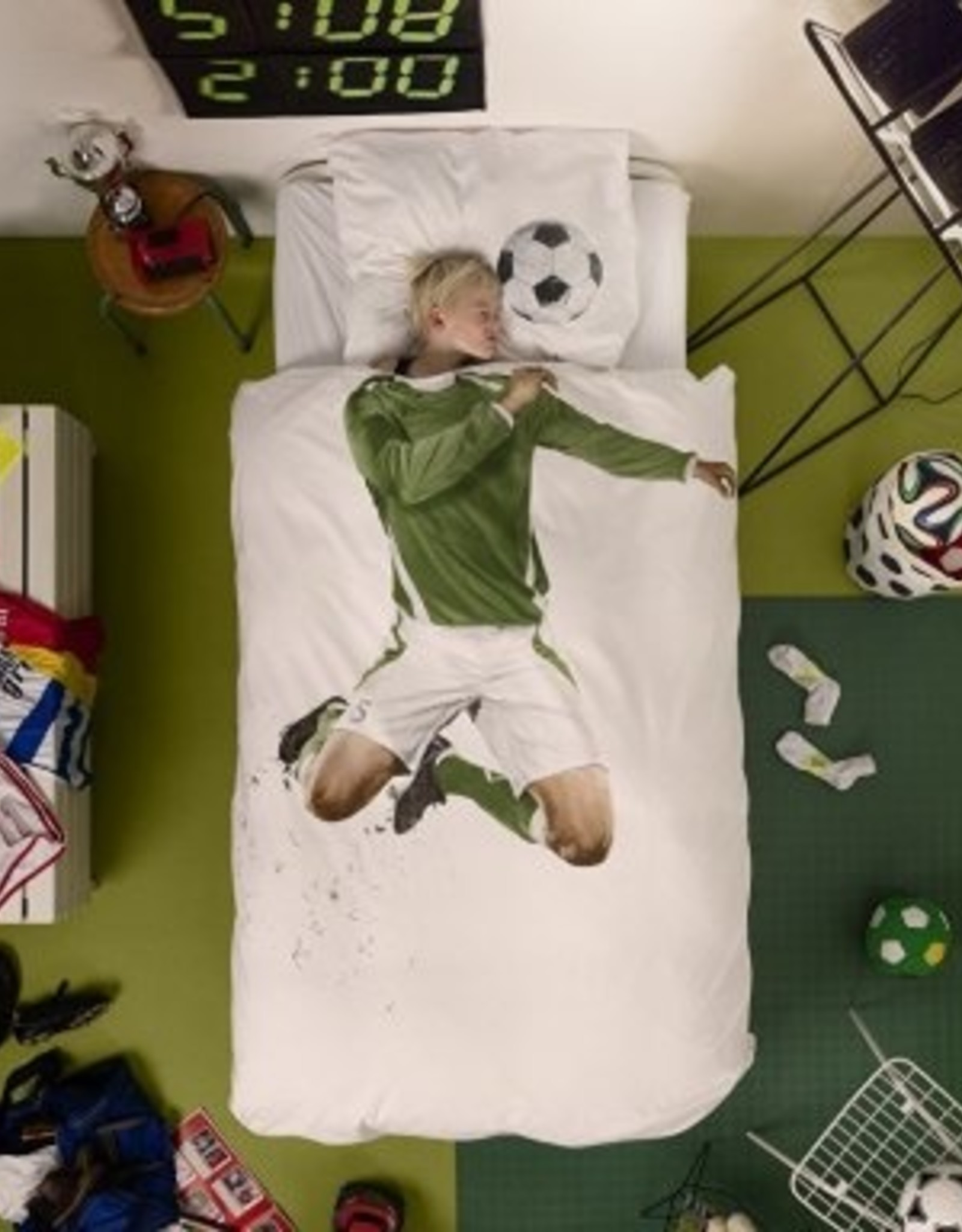 Snurk Dekbedovertrek Snurk Soccer Champ Green