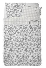 Stapelgoed Kinderdekbedovertrek Stapelgoed Sweet Heartz Grey 100 x 140 cm