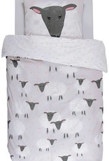 Covers & Co Kinderdekbedovertrek Covers & Co Sheeps Grey 120 x 150 cm