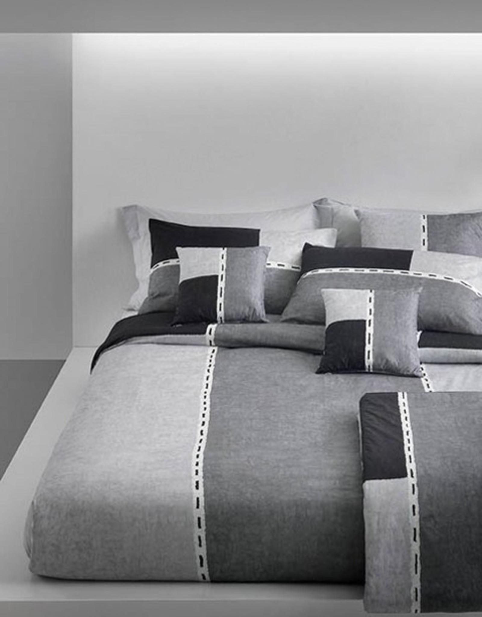 Mirabello Dekbedovertrek Carrara Bed Art Hatch Grey
