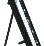 Easymaxx EasyMaxx |Led-Memobord | Memobord  met ingebouwde led verlichting 22x18x2.5cm| Incl. 3 stiften |zwart
