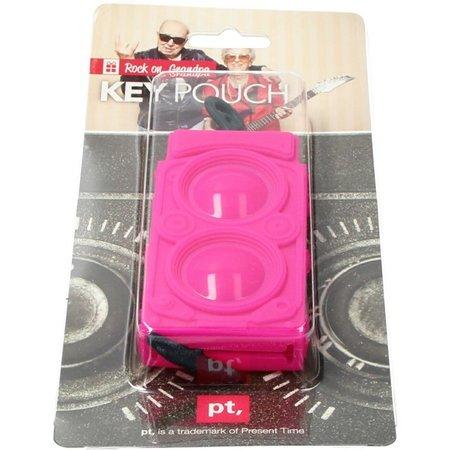 Present Time Present Time Sleutelhoes Subwoofer 2 Stuks – Sleutelcover Radio – Roze