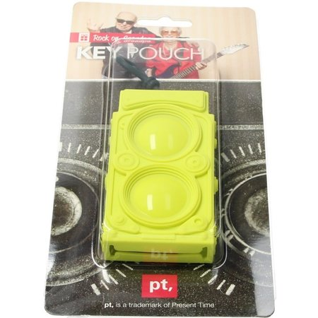 Present Time Present Time Sleutelhoes Sub Woofer 2 Stuks – Sleutelcover Radio – Groen