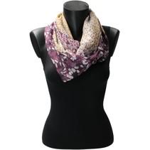 Sjaal Bloemen en Panterprint Herfstkleuren