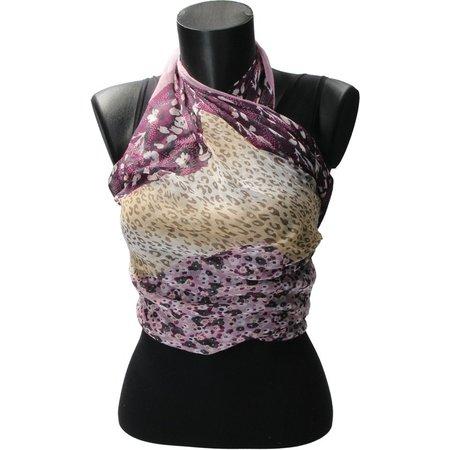 Banzaa Sjaal Bloemen en Panterprint van Viscose – Nette Vierkante Shawl 105x105cm – Herfstkleuren